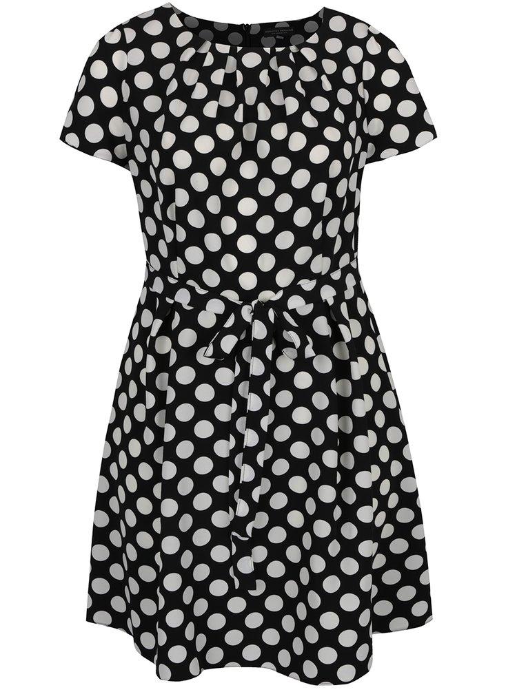 Bílo-černé puntíkované šaty Dorothy Perkins Curve