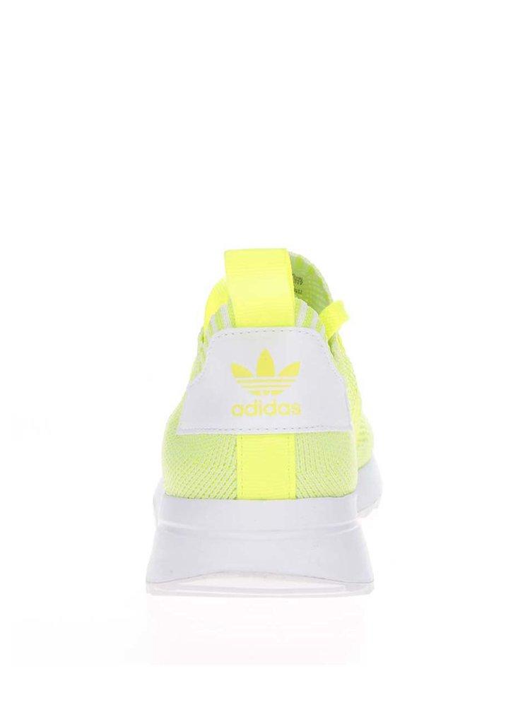Pantofi sport galben neon pentru femei adidas Originals Flashback
