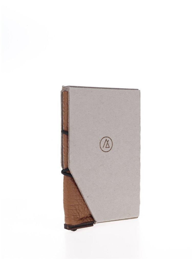 Hnědé kožené unisex pouzdro na karty OONA Studio