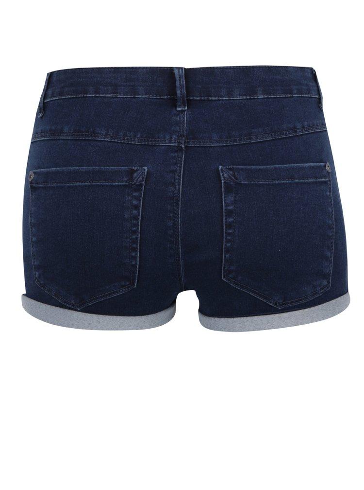 Pantaloni scurți albastru închis ONLY Royal cu terminații îndoite