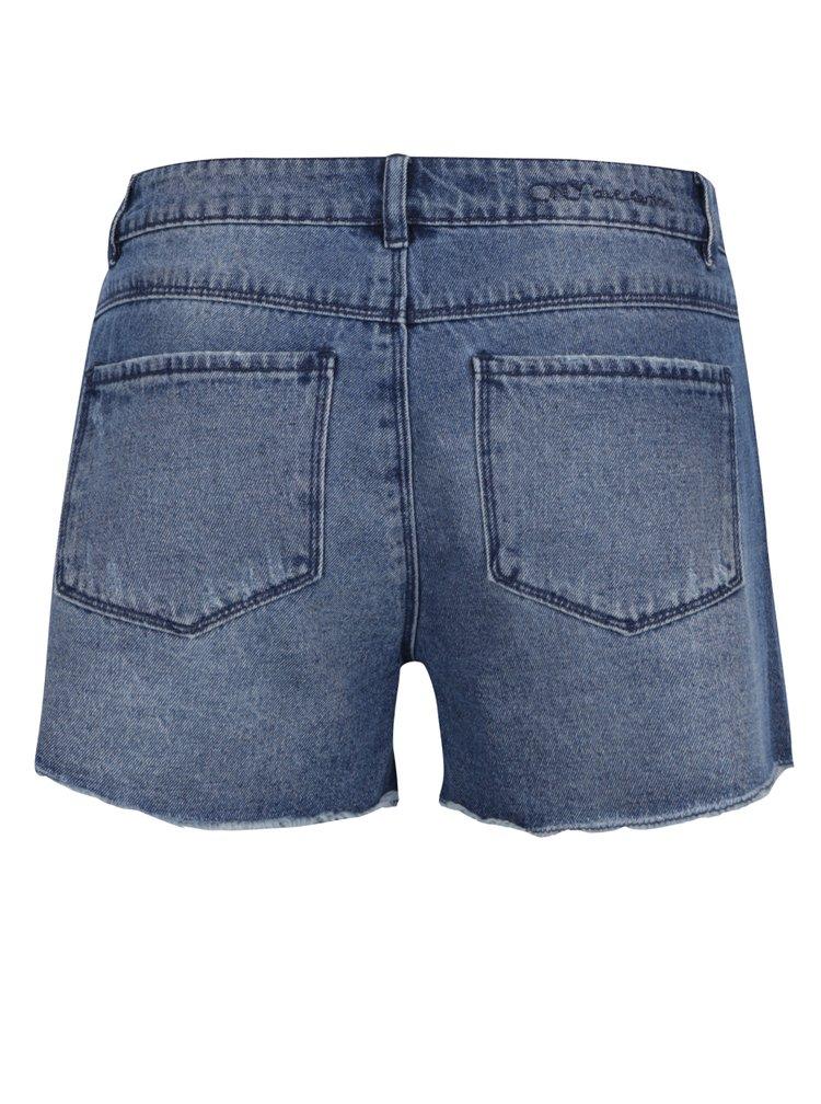 Modré džínové kraťasy s výšivkou ONLY Pacy