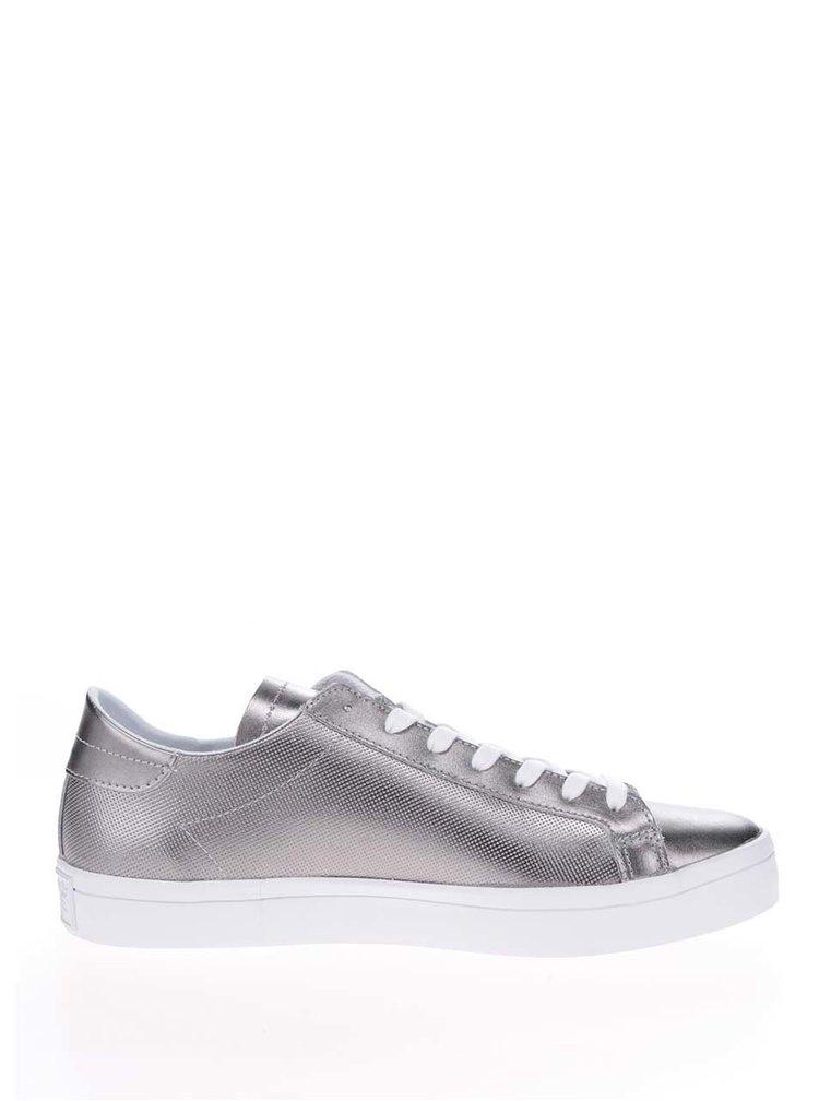Dámské kožené tenisky ve stříbrné barvě adidas Originals Courtvantage