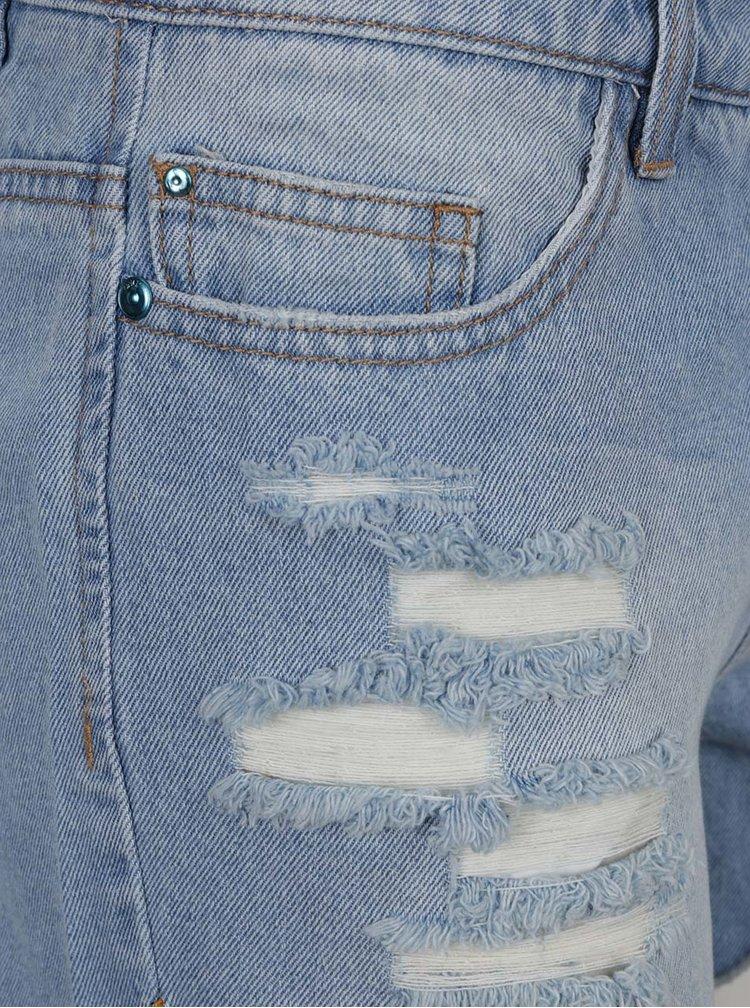 Modré džínové kraťasy s obloučkovým lemem ONLY Carmen