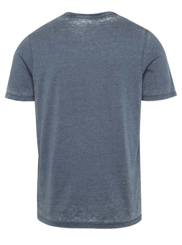 Modré žíhané triko Jack & Jones Wild