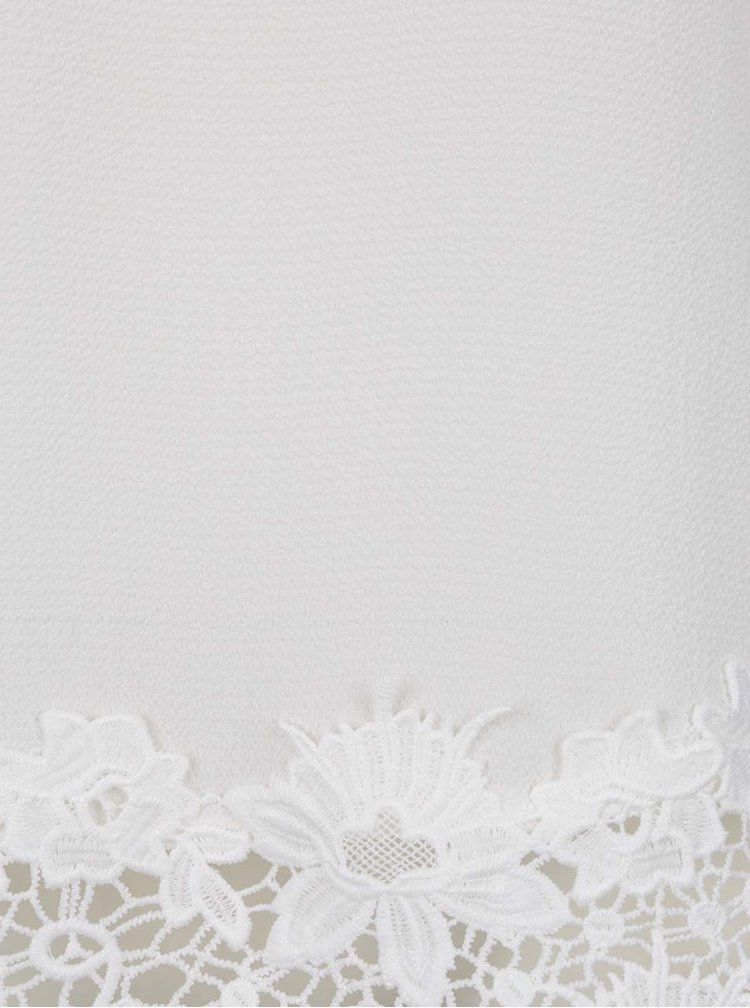 Tricou alb Dorothy Perkins cu dantelă