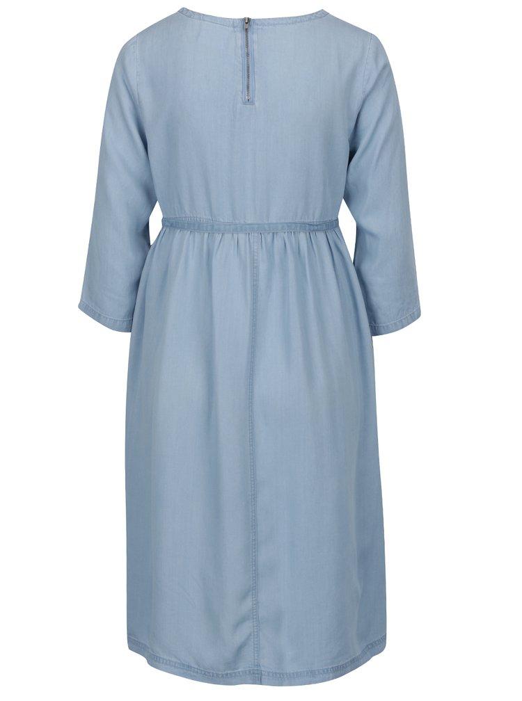 Rochie albastra pentru gravide Mama.licious cu cordon in talie