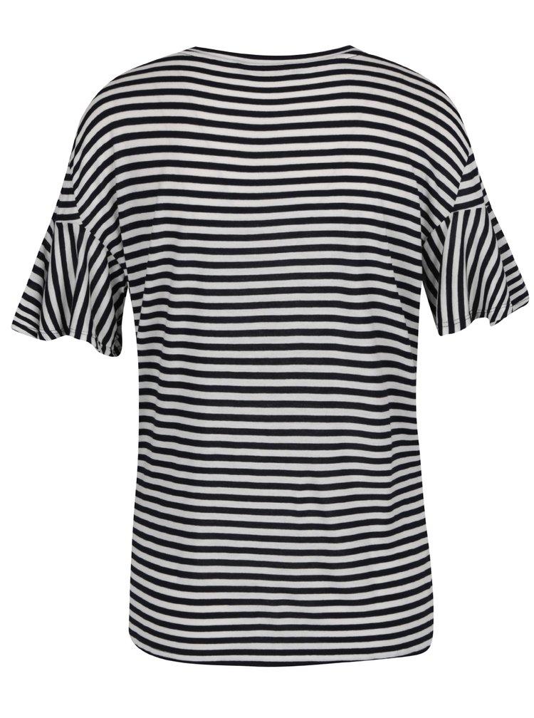 Bílo-černé pruhované tričko ONLY Michelle