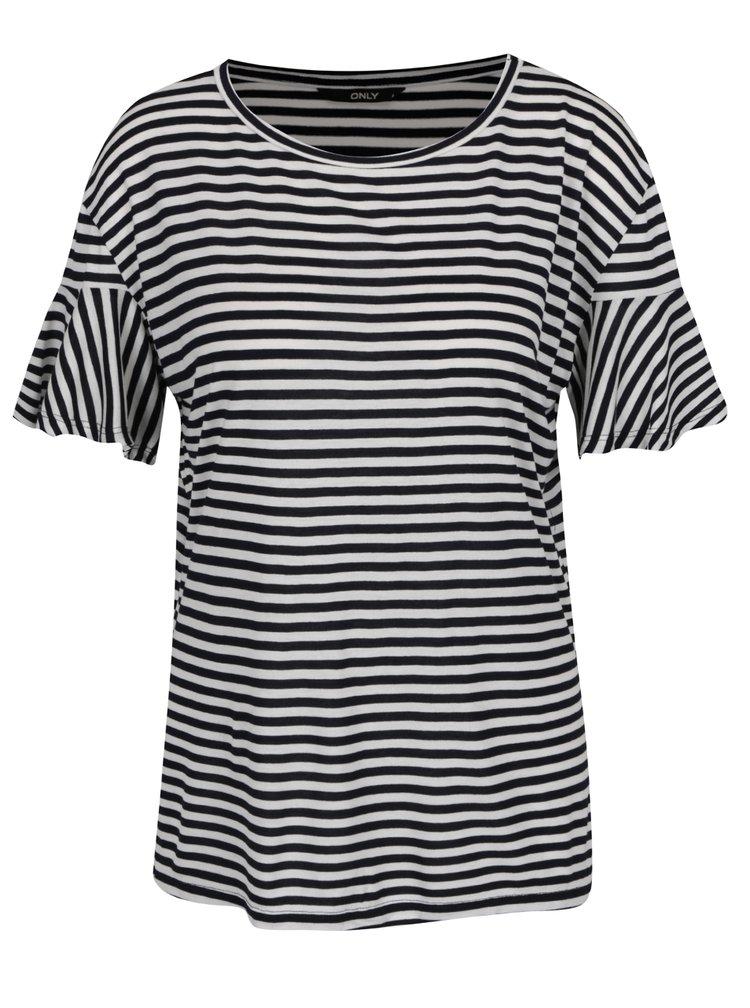 Bílo-modré pruhované tričko ONLY Michelle