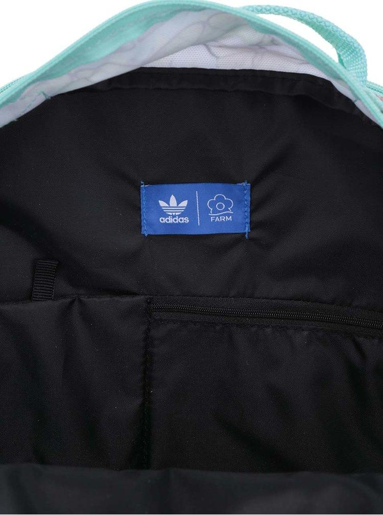Mentolový dámský batoh s potiskem motýlů adidas Originals