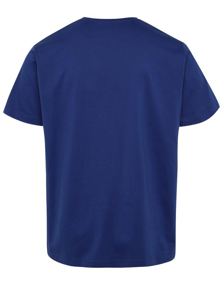 Tricou albastru JP 1880 cu buzunar pe piept