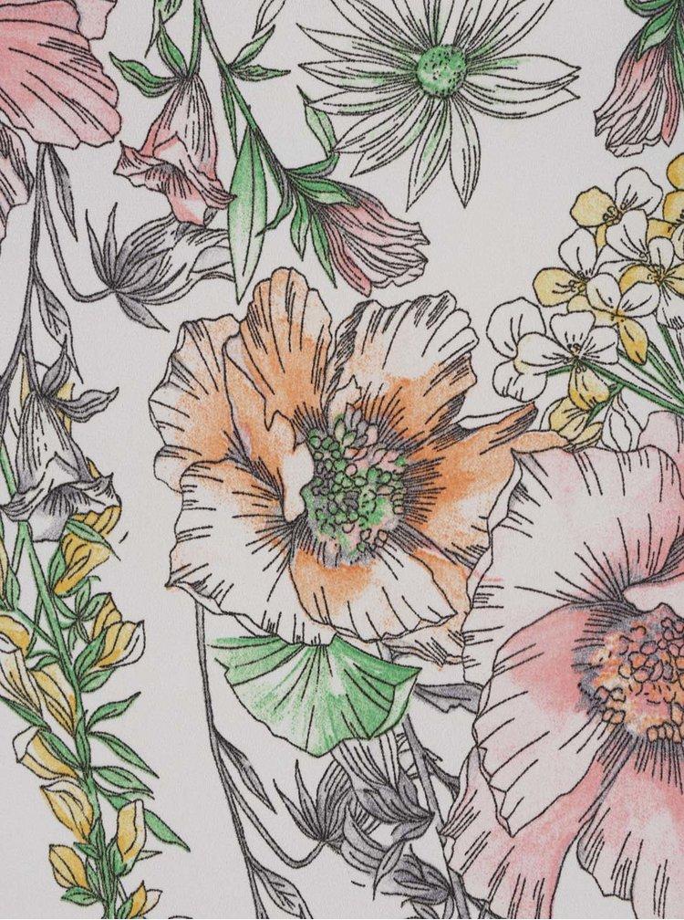 Bluza alba Dorothy Perkins Petite cu imprimeu floral