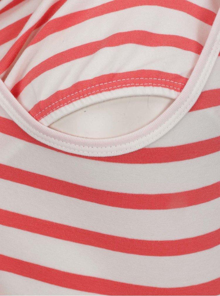 Set alb&rosu cu 2 maiouri pentru gravide Mama.licious Lea