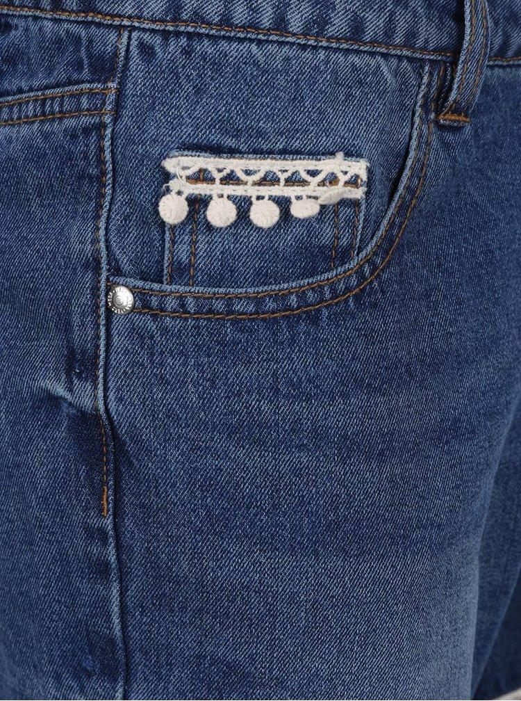 Pantaloni scurți albaștri VERO MODA Be Thirteen din denim