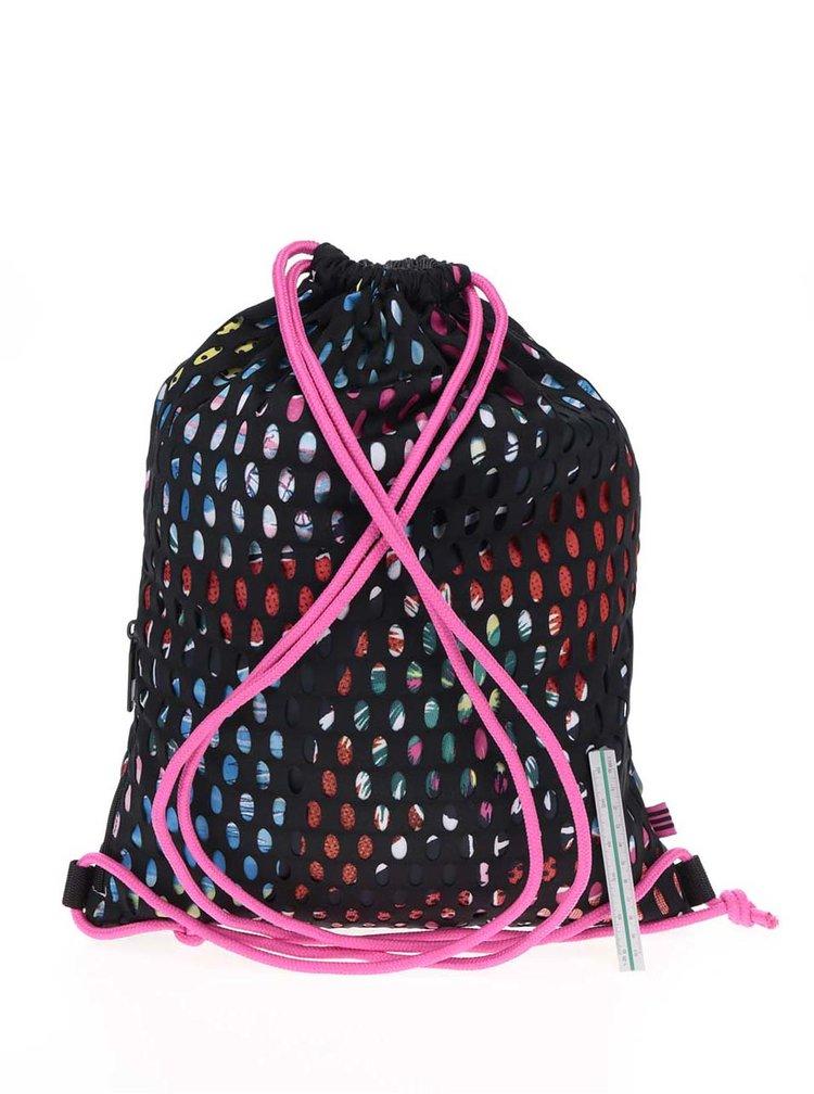 Růžovo-černý dámský perforovaný vak adidas Originals