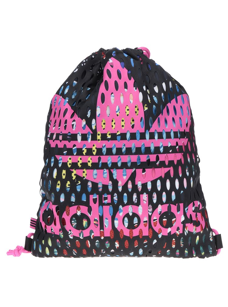 Rucsac negru & roz adidas Originals cu model perforat