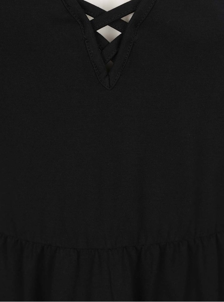 Černé šaty na ramínka s pásky v dekoltu Noisy May Nayeem