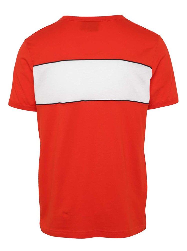 Červené pánské triko s logem adidas Originals