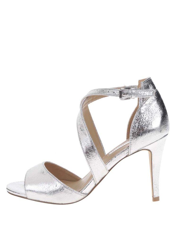 Sandale argintii  Dorothy Perkins cu barete incrucisate