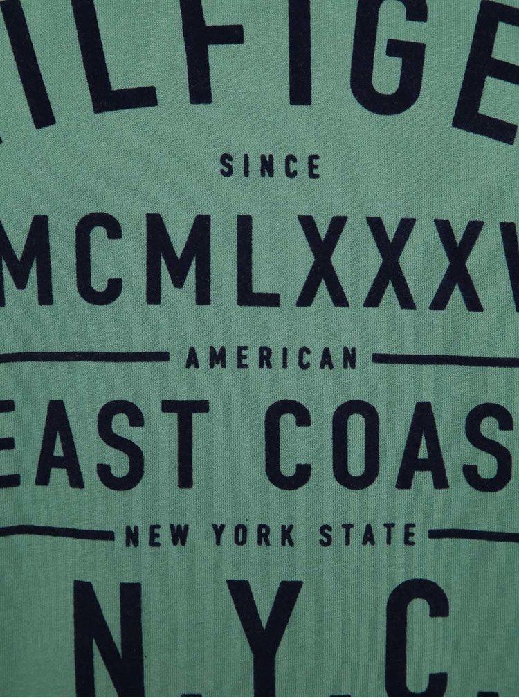 Zelené pánské triko s potiskem Tommy Hilfiger