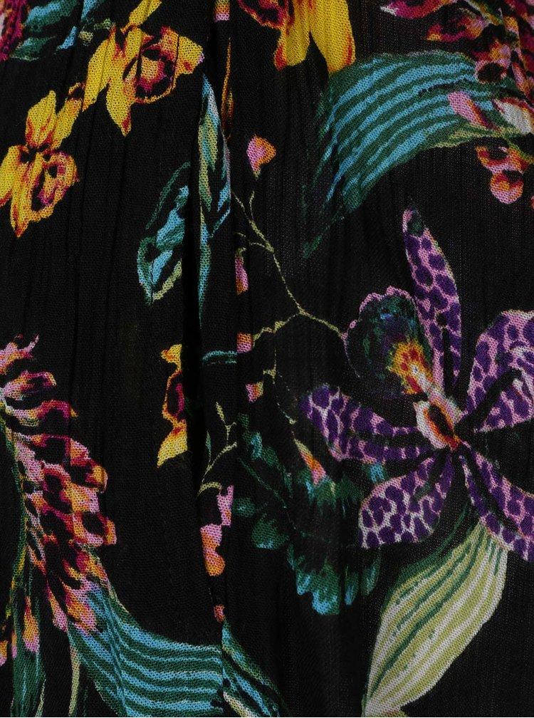 Salopetă neagră Dorothy Perkins cu imprimeu floral