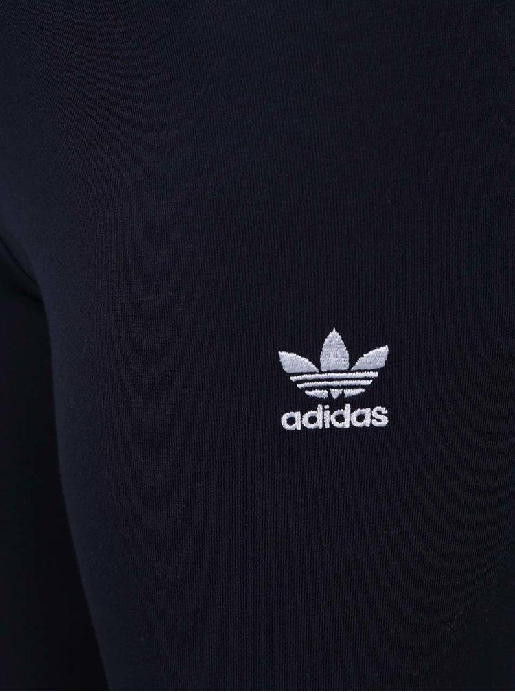 Tmavě modré dámské legíny s detaily adidas Originals
