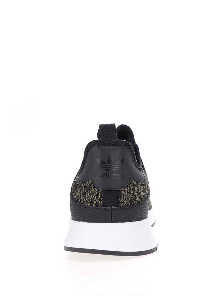 Černo-zelené žíhané pánské tenisky adidas Originals X_ PLR