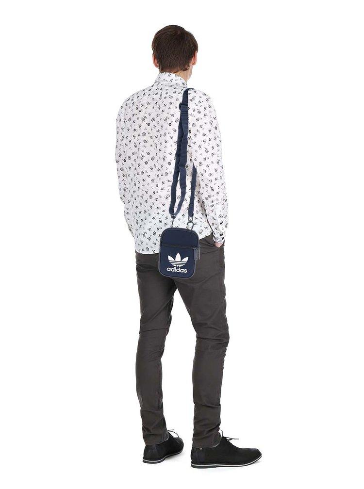 Modrá malá unisex crossbody taška adidas Originals