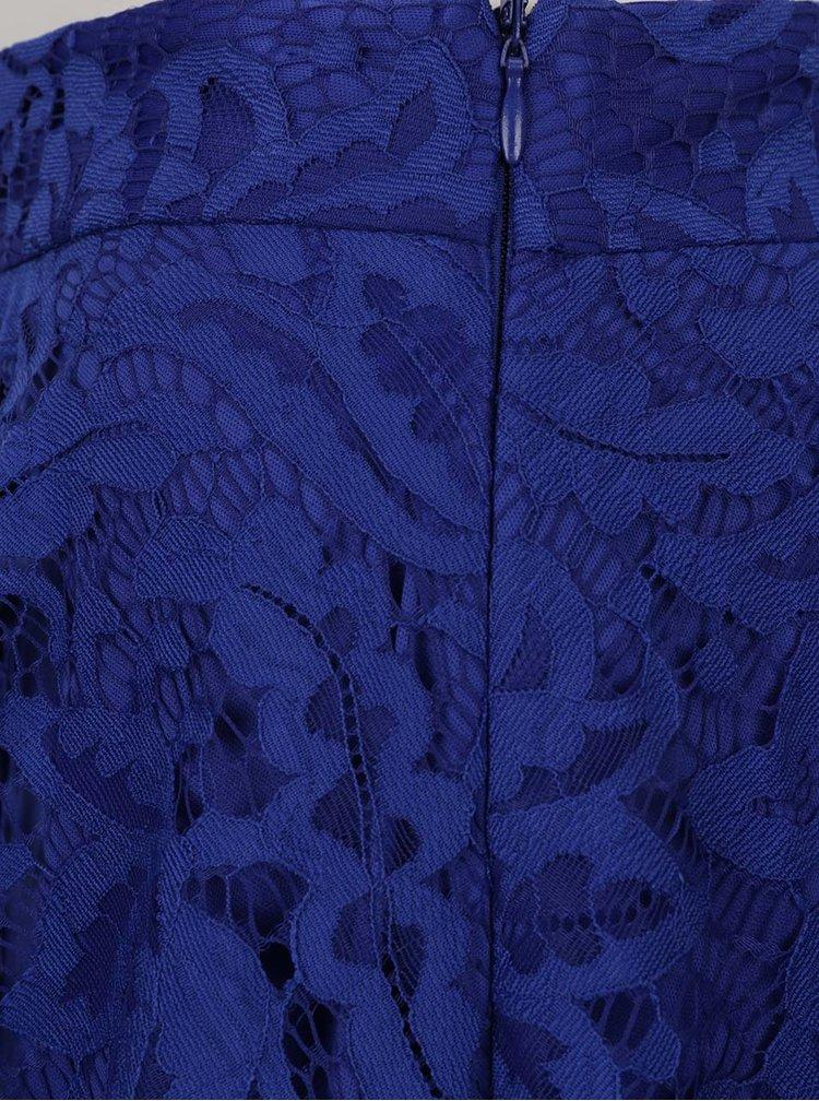 Modrá krajková sukně s volány Dorothy Perkins