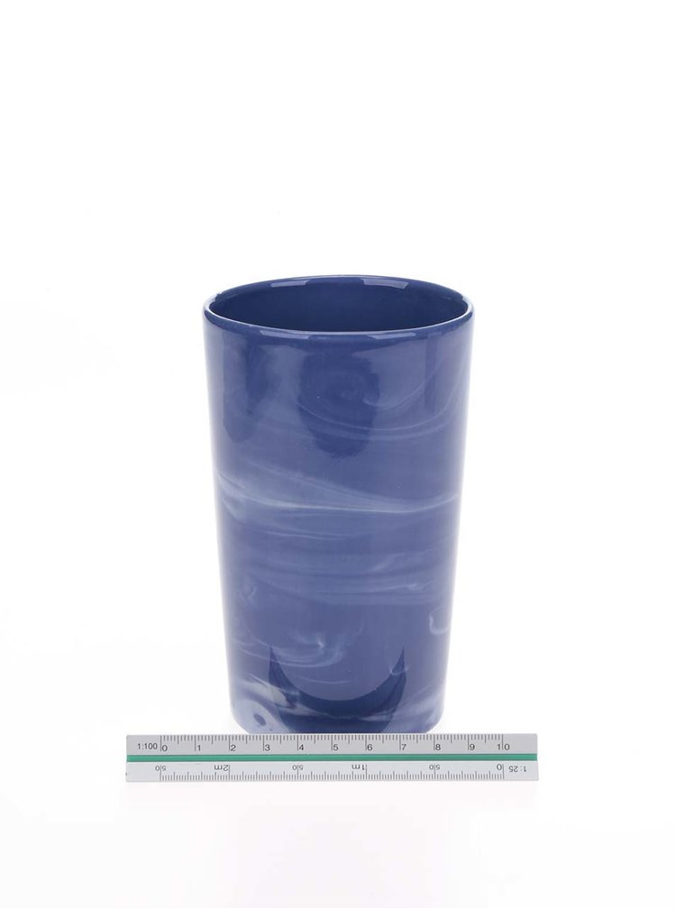 Pahar albastru cobalt din porțelan Studio mud.