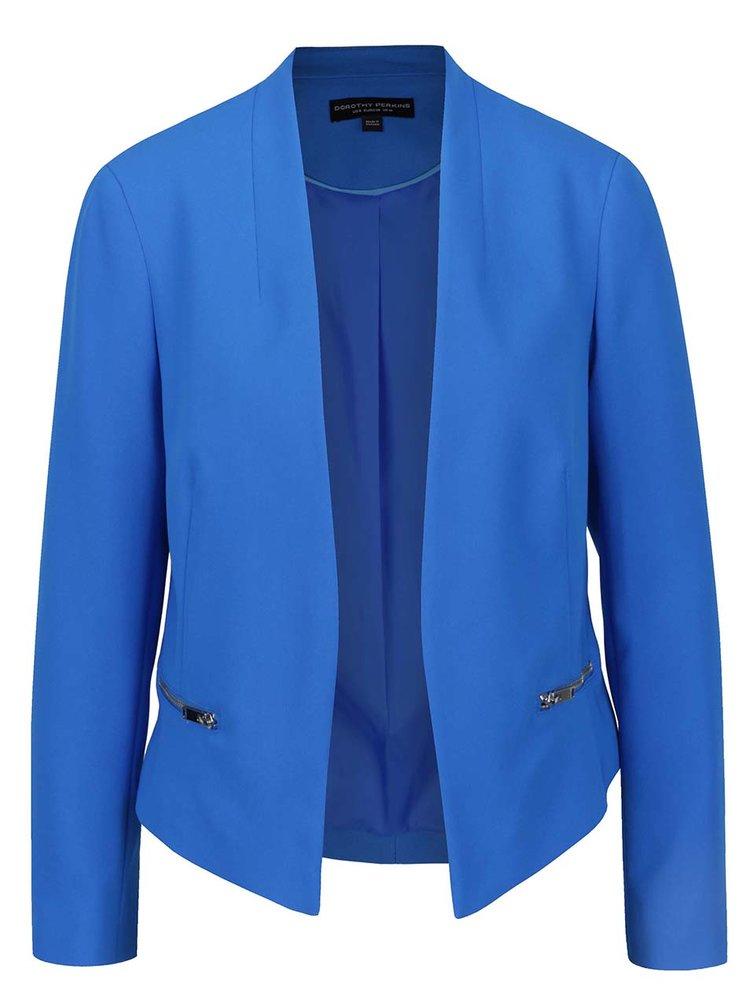 Modré sako s kapsami na zip Dorothy Perkins