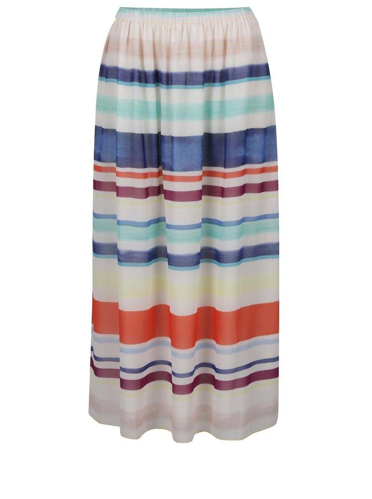 Modro-krémová pruhovaná šifonová sukně Tommy Hilfiger