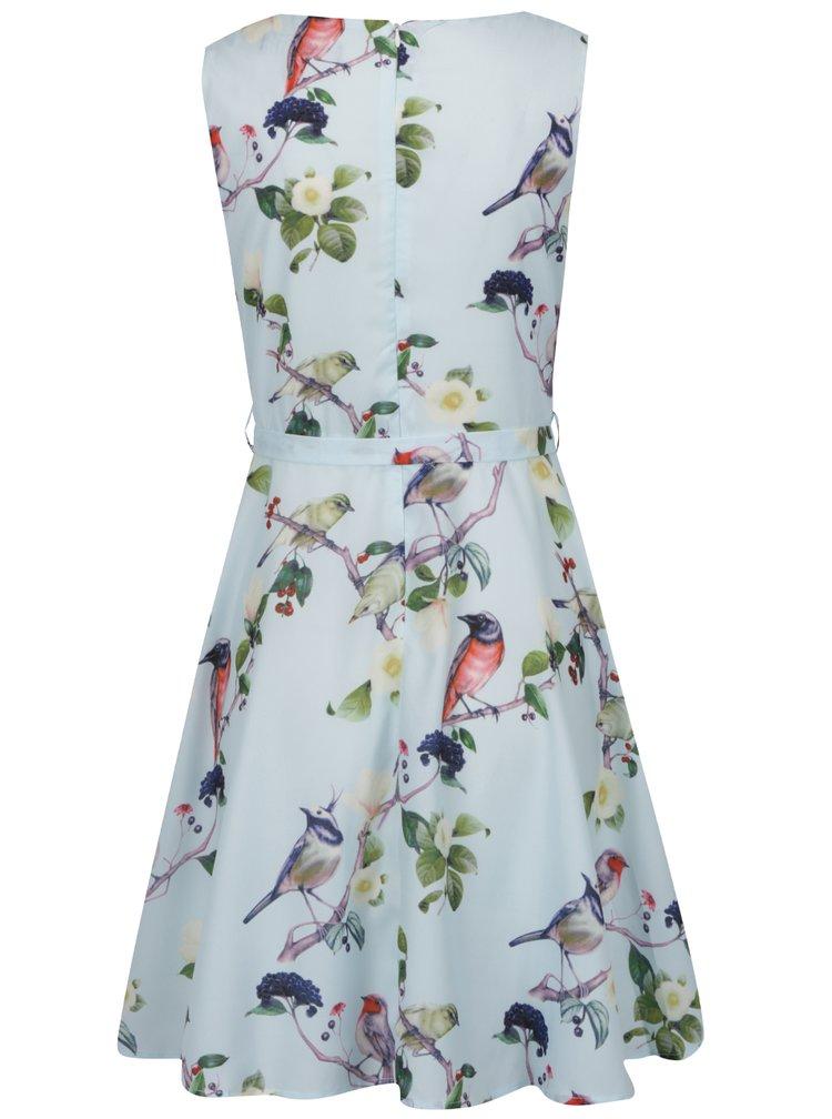 Rochie verde mentă Mela London cu model