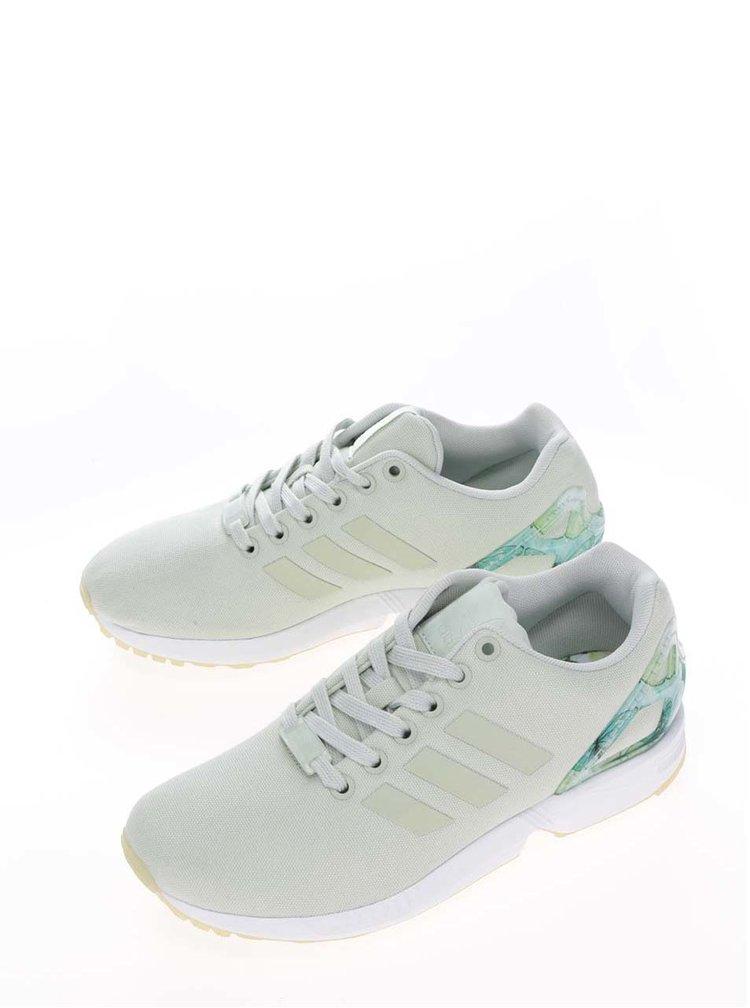 Světle zelené dámské tenisky adidas Originals ZX Flux