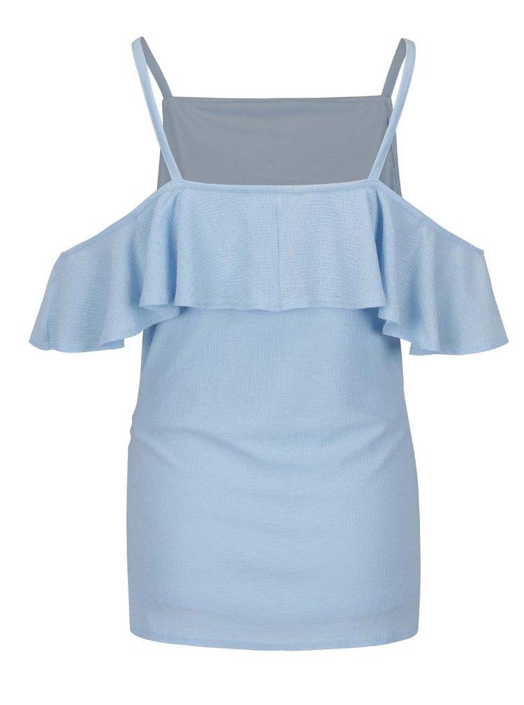 Světle modrá těhotenská halenka s volány Dorothy Perkins Maternity