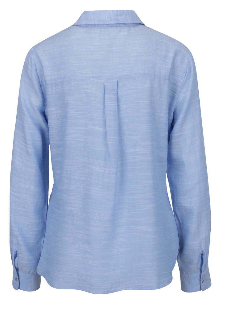 Světle modrá žíhaná košile s kapsami Dorothy Perkins