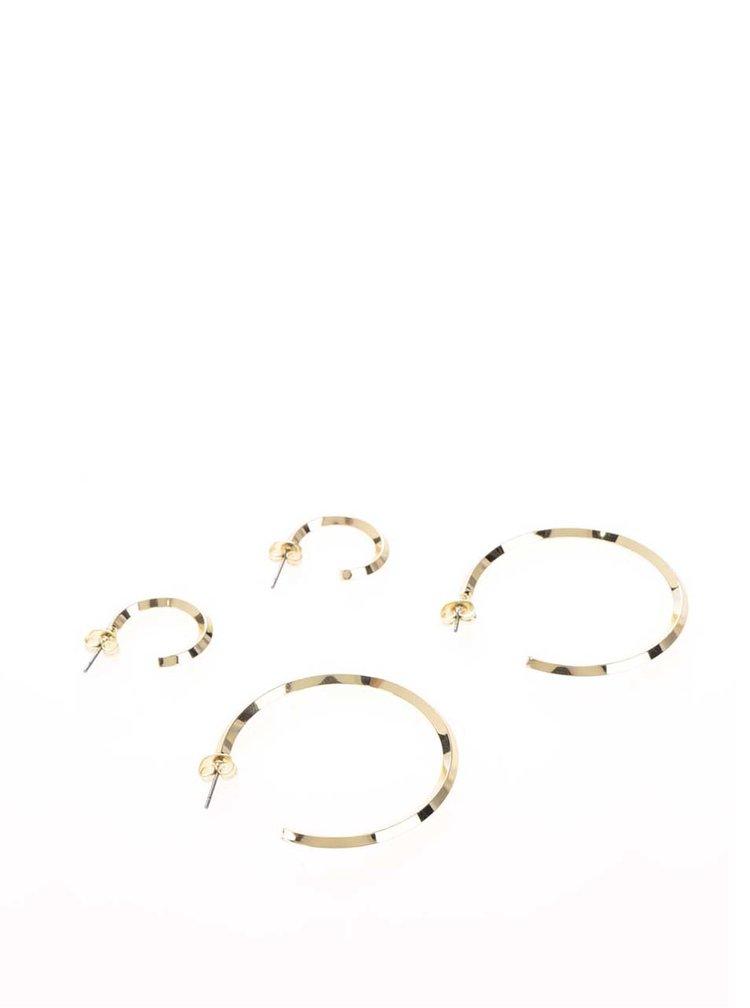 Sada dvou párů kruhových náušnic ve zlaté barvě Pieces Eila
