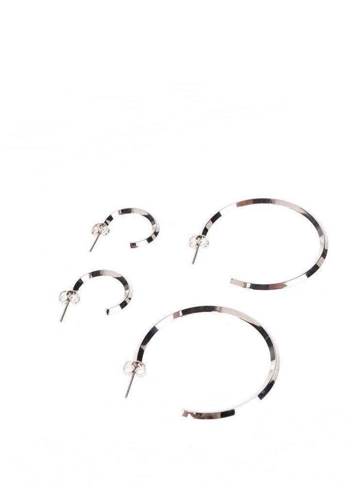 Set 2 perechi de cercei argintii Pieces Eila