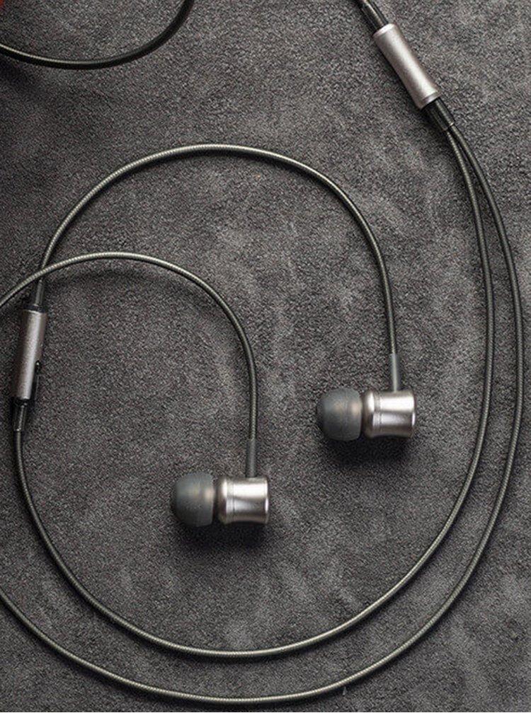 Béžová metalická sluchátka Meze Audio Neo