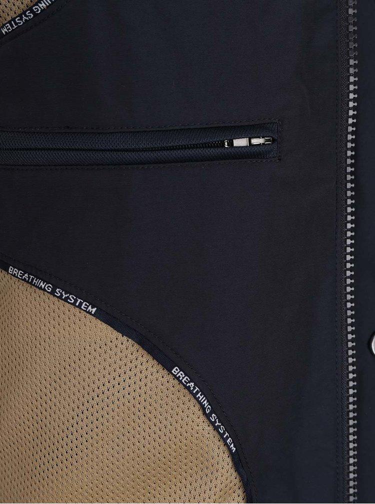 Jachetă bleumarin impermeabilă Geox cu glugă ascunsă