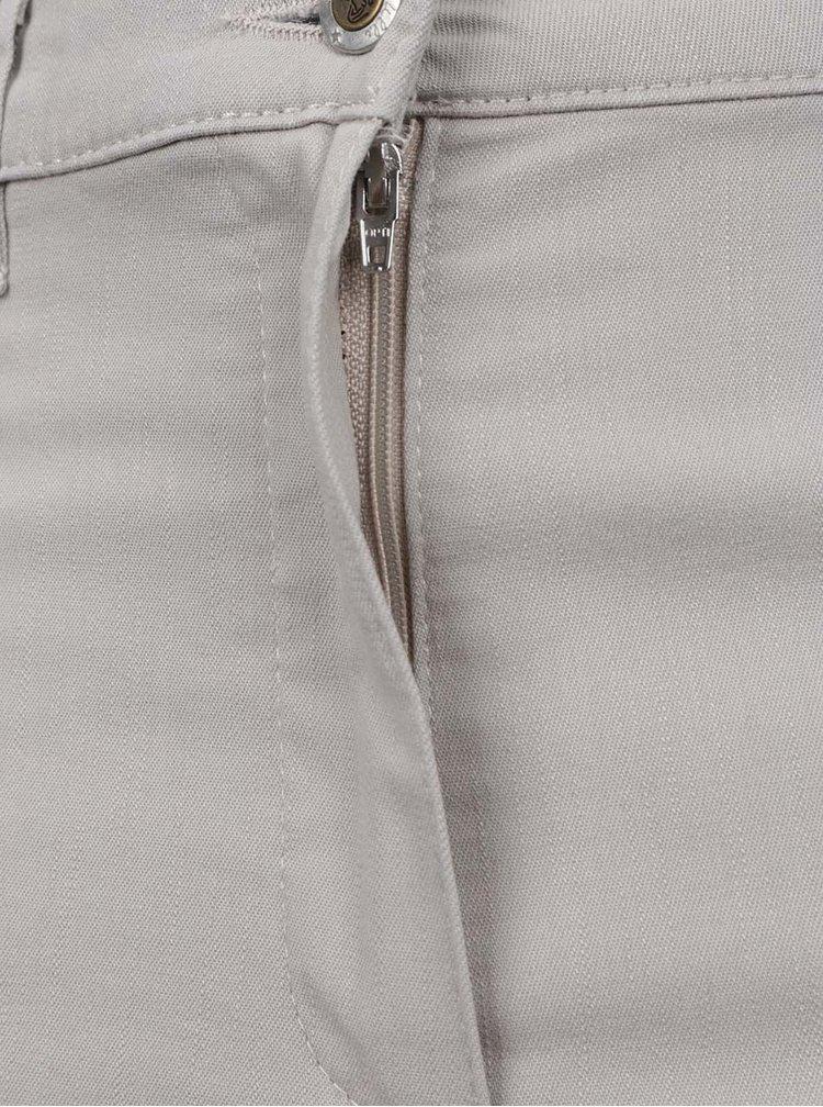 Pantaloni trei sfeturi bej Ulla Popken