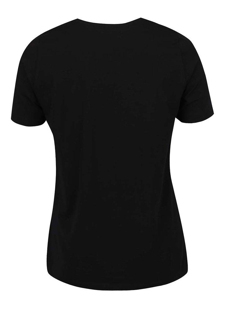Tricou negru Ulla Popken cu print