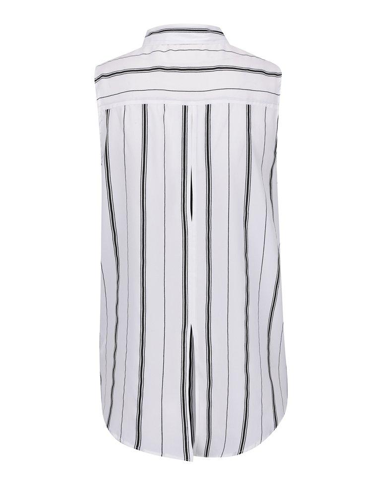 Cămașă alb & negru  fără mâneci TALLY WEiJL cu model în dungi