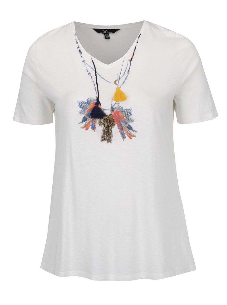 Krémové tričko s aplikací Ulla Popken