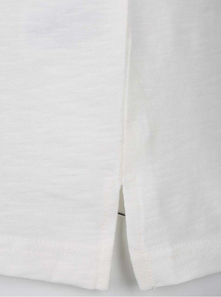 Krémové vzorované tričko s krátkým rukávem Ulla Popken