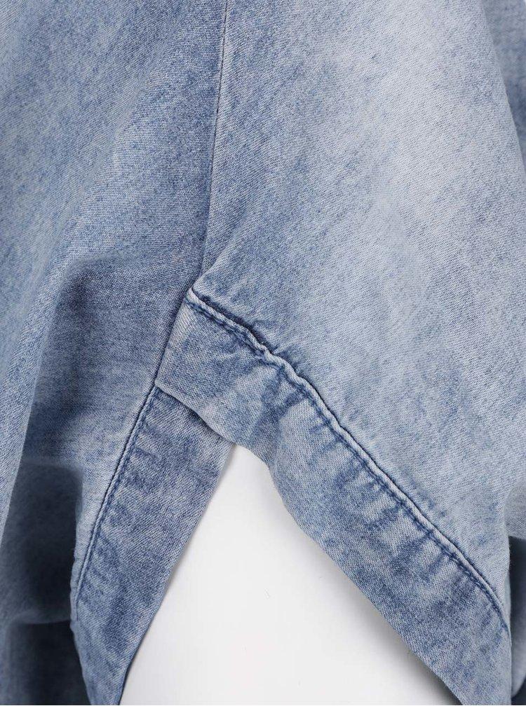 Modrá džínová halenka s netopýřími rukávy Ulla Popken