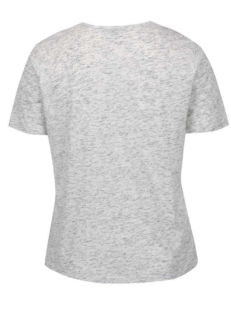 Šedé žíhané tričko s krátkým rukávem Ulla Popken