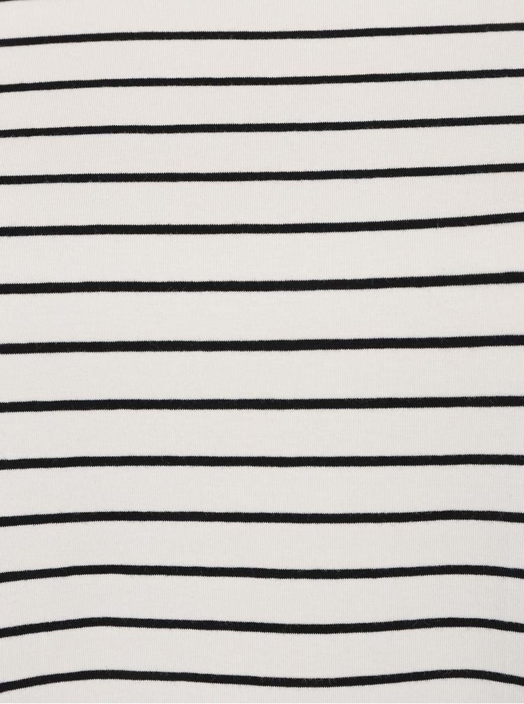 Krémové pruhované tričko s krátkým rukávem Ulla Popken