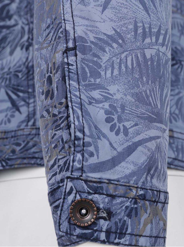 Modrá lehká vzorovaná bunda Ulla Popken