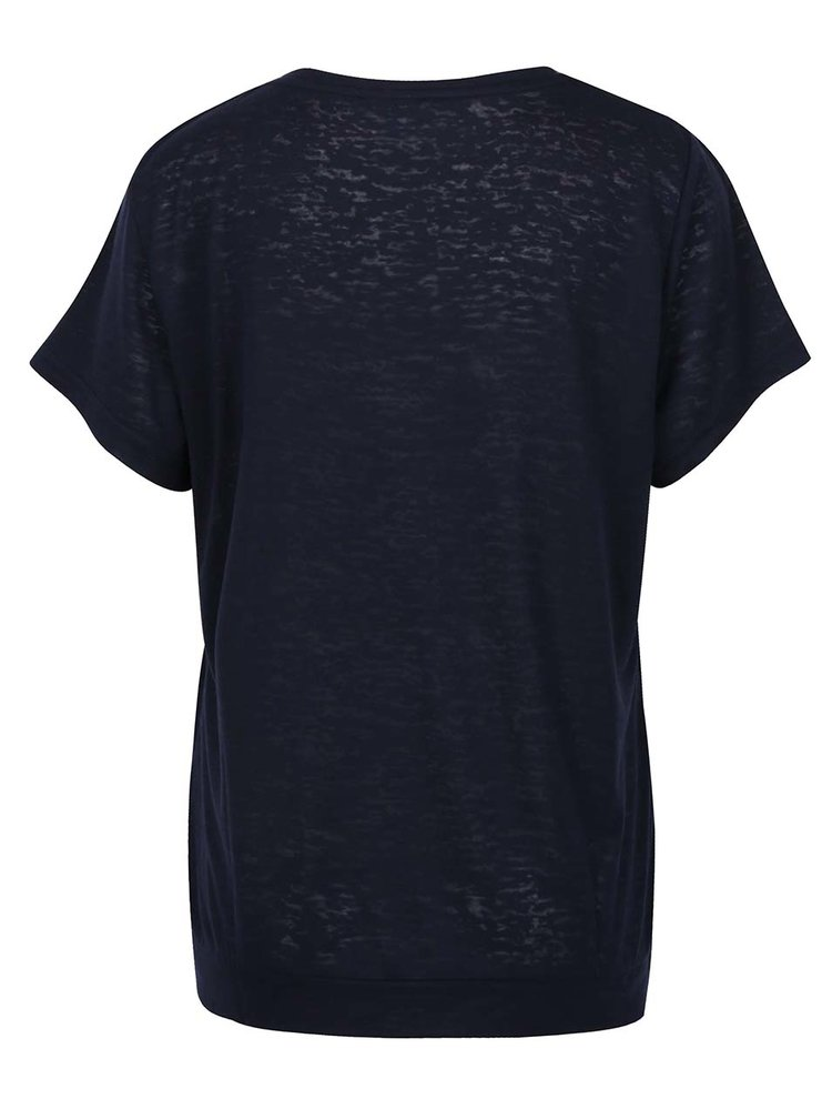 Tmavě modré tričko s potiskem Gina Laura