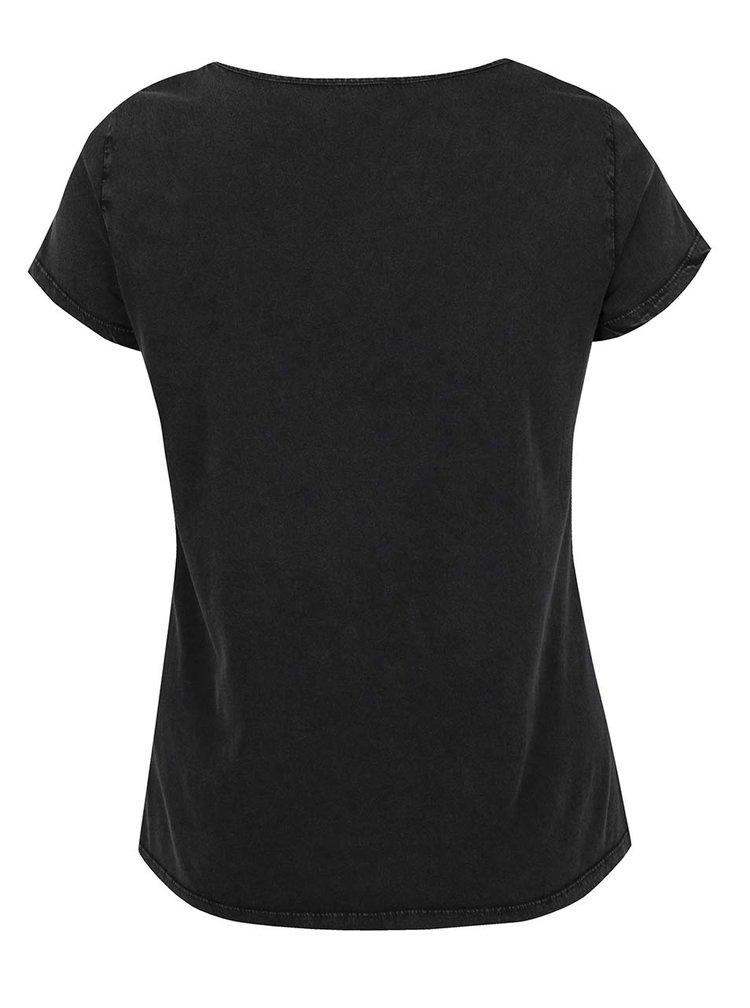 Šedé tričko s krátkým rukávem Ulla Popken